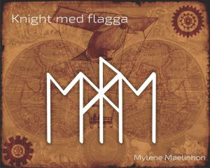 Knight med flagga