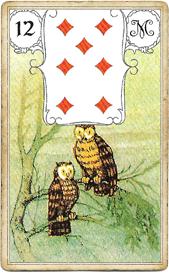Ленорман Голубая Сова. Птицы